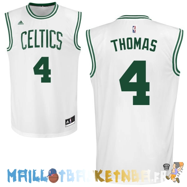 Maillot NBA Boston Celtics NO.4 Isaiah Thomas Blanc Pas Cher