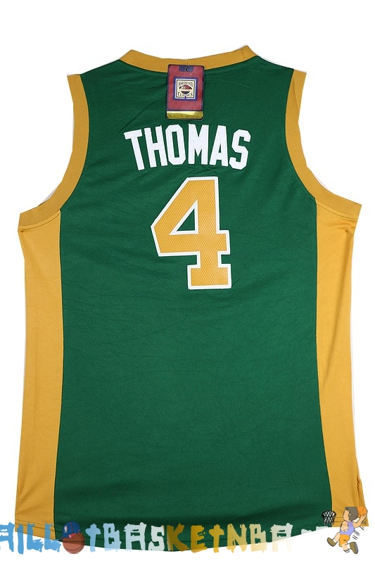Maillot NBA Boston Celtics NO.4 Isaiah Thomas Vert Orange Pas Cher