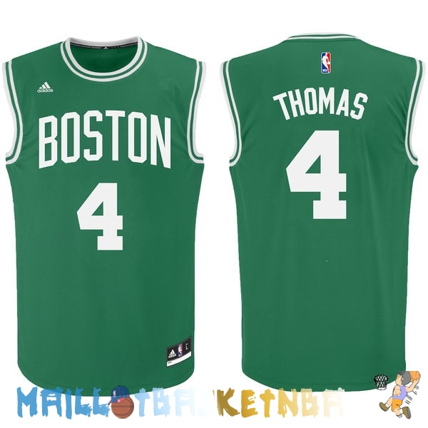 Maillot NBA Boston Celtics NO.4 Isaiah Thomas Vert Pas Cher