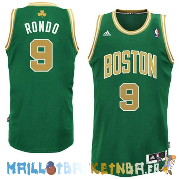 Maillot NBA Boston Celtics NO.9 Rajon Rondo Vert Or Pas Cher