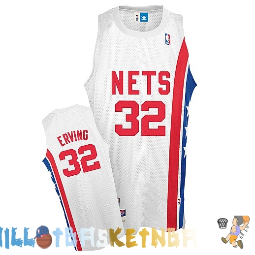 Maillot NBA Brooklyn Nets ABA NO.32 Erving Blanc Pas Cher