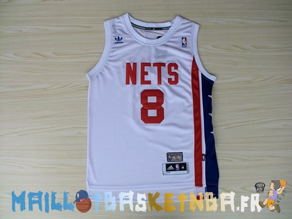 Maillot NBA Brooklyn Nets ABA NO.8 Willams Blanc Pas Cher