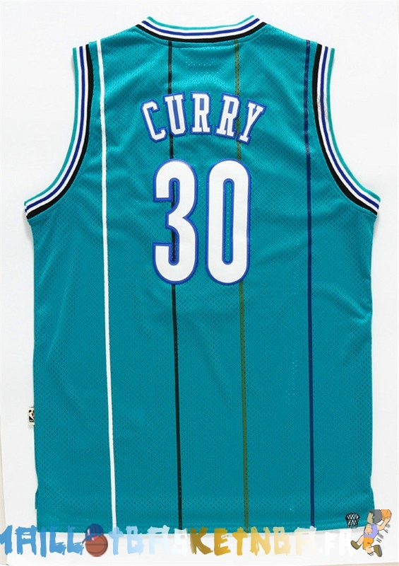 Maillot NBA Charlotte Hornets NO.30 Wardell Stephen Curry Vert Pas Cher