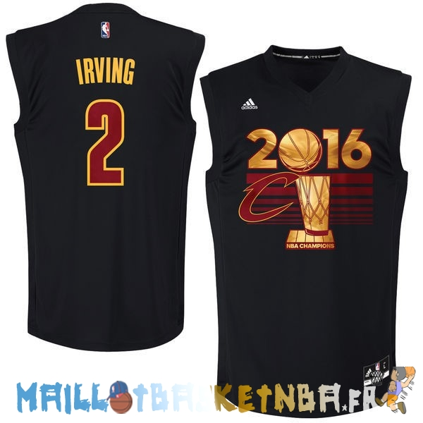 Maillot NBA Cleveland Cavaliers 2016 Finales Champions NO.2 Kyrie Irving Noir Pas Cher