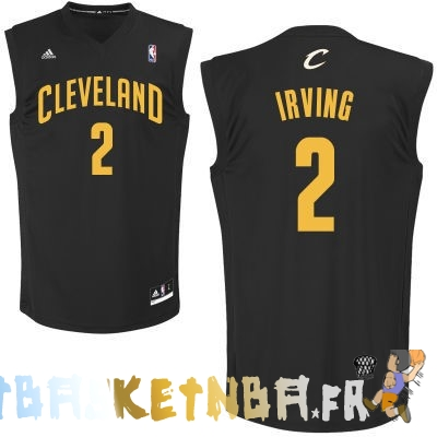 Maillot NBA Cleveland Cavaliers NO.2 Kyrie Irving Noir Pas Cher