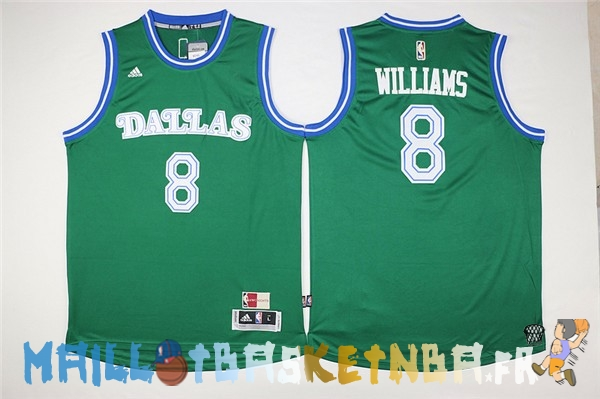 Maillot NBA Dallas Mavericks NO.8 Deron Michael Williams Vert Pas Cher