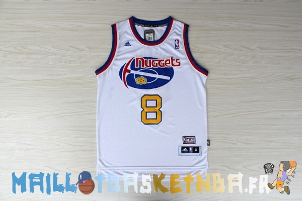 Maillot NBA Denver Nuggets ABA NO.8 Gallinari Blanc Pas Cher