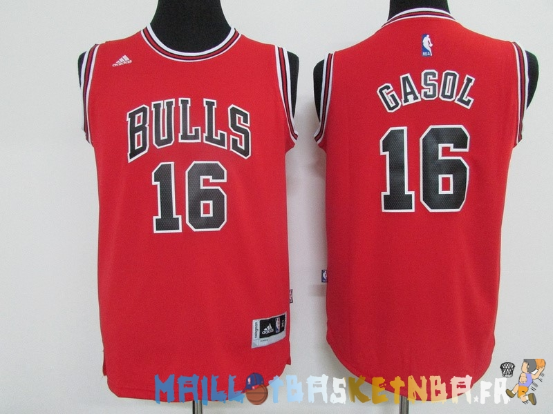 Maillot NBA Enfants Chicago Bulls NO.16 Pau Gasol Rouge Pas Cher