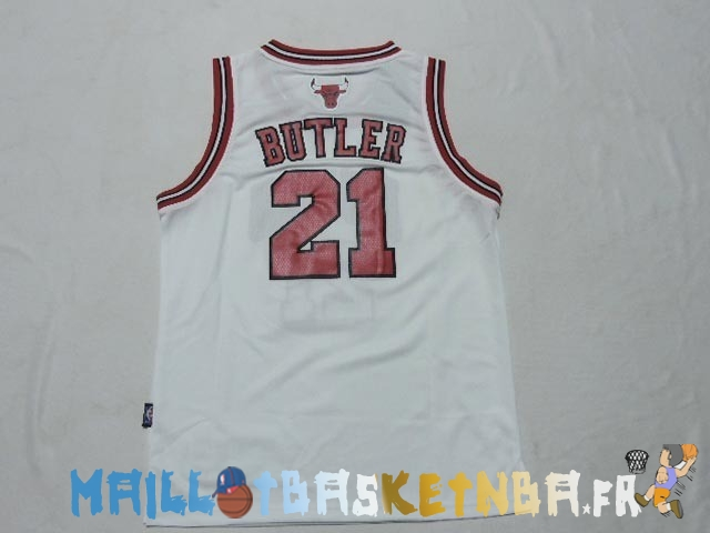 Maillot NBA Enfants Chicago Bulls NO.21 Jimmy Butler Blanc Pas Cher