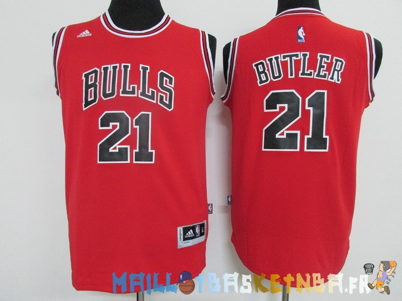 Maillot NBA Enfants Chicago Bulls NO.21 Jimmy Butler Rouge Pas Cher