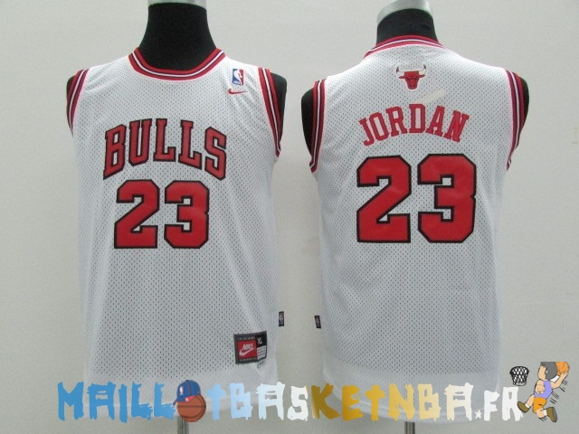 Maillot NBA Enfants Chicago Bulls NO.23 Michael Jordan Blanc Pas Cher