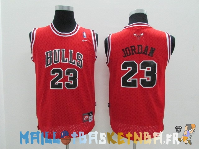 Maillot NBA Enfants Chicago Bulls NO.23 Michael Jordan Rouge Pas Cher