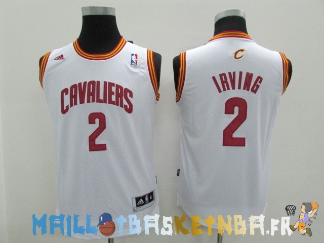 maillot nba enfants cleveland cavaliers no 2 kyrie irving blanc pas cher basket pas cher. Black Bedroom Furniture Sets. Home Design Ideas