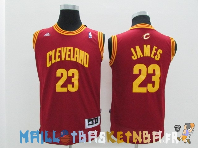Maillot NBA Enfants Cleveland Cavaliers NO.23 LeBron James Rouge Pas Cher