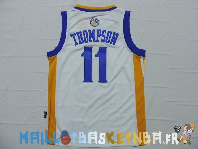 Maillot NBA Enfants Golden State Warriors NO.11 Klay Thompson Blanc Pas Cher