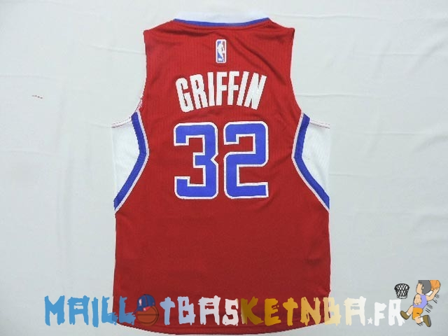 Maillot NBA Enfants L.A.Clippers NO.32 Blake Griffin Rouge Pas Cher