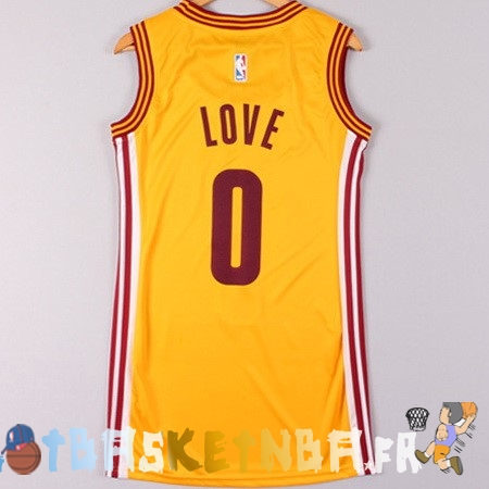 Maillot NBA Femme Cleveland Cavaliers NO.0 Kevin Love Jaune Pas Cher