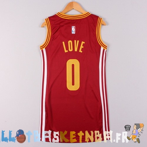 Maillot NBA Femme Cleveland Cavaliers NO.0 Kevin Love Rouge Pas Cher