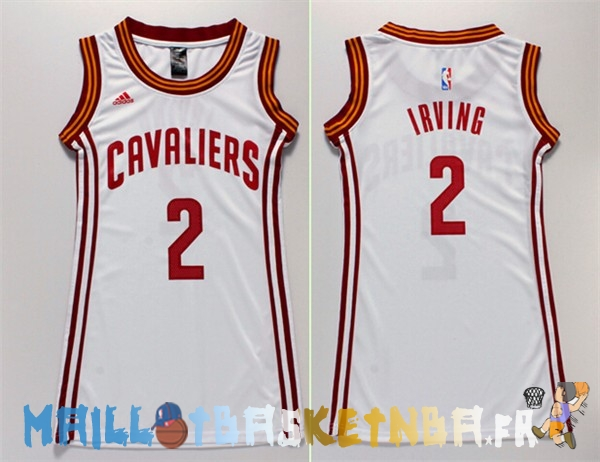 Maillot NBA Femme Cleveland Cavaliers NO.2 Kyrie Irving Blanc Pas Cher