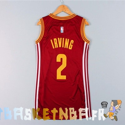 Maillot NBA Femme Cleveland Cavaliers NO.2 Kyrie Irving Rouge Pas Cher