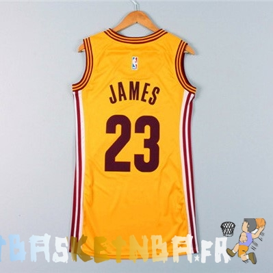 maillot nba femme cleveland cavaliers lebron james jaune pas cher basket pas cher. Black Bedroom Furniture Sets. Home Design Ideas