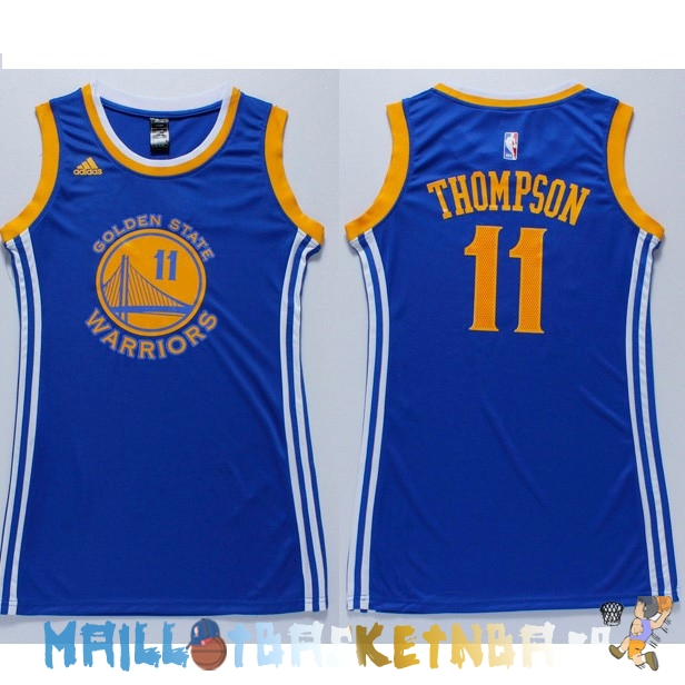 Maillot NBA Femme Golden State Warriors NO.11 Klay Thompson Bleu Pas Cher