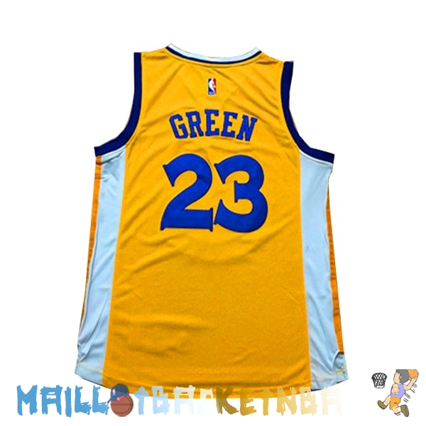 maillot nba femme golden state warriors draymond green jaune pas cher basket pas cher. Black Bedroom Furniture Sets. Home Design Ideas