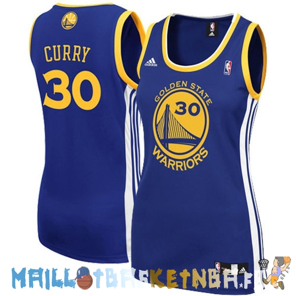 Maillot NBA Femme Golden State Warriors NO.30 Stephen Curry Bleu Pas Cher