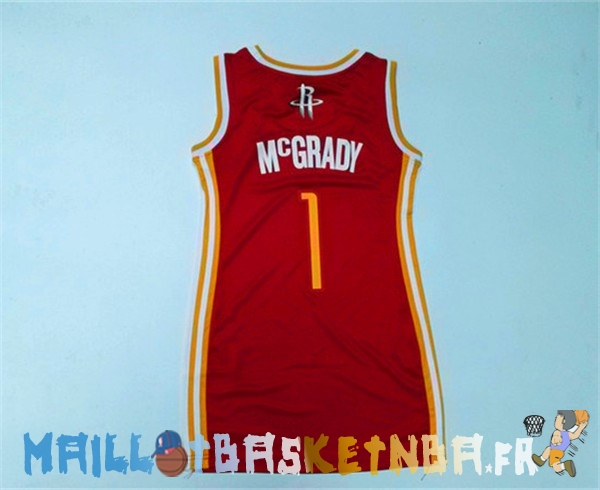 Maillot NBA Femme Houston Rockets NO.1 Tracy McGrady Rouge Pas Cher