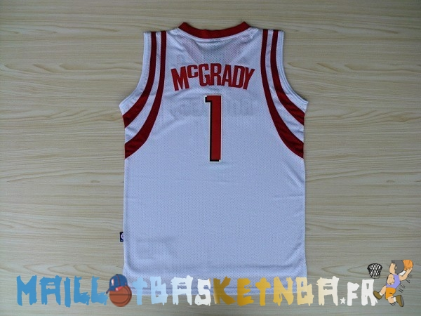 Maillot NBA Houston Rockets NO.1 Tracy McGrady Blanc Pas Cher