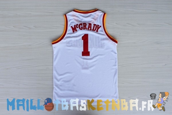 Maillot NBA Houston Rockets NO.1 Tracy McGrady Retro Blanc Pas Cher