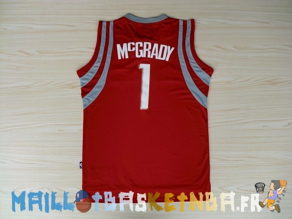 Maillot NBA Houston Rockets NO.1 Tracy McGrady Rouge Pas Cher