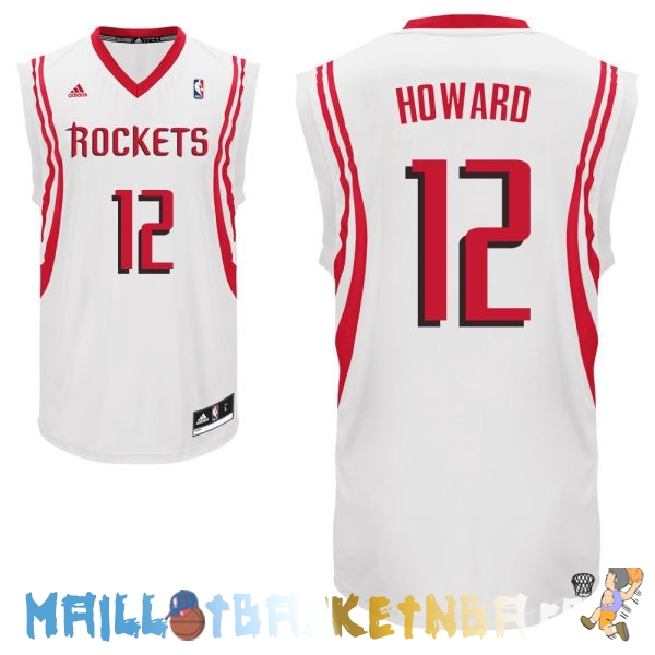 Maillot NBA Houston Rockets NO.12 Dwight Howard Blanc Pas Cher