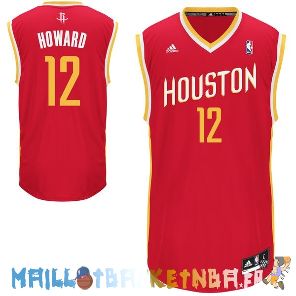 Maillot NBA Houston Rockets NO.12 Dwight Howard Retro Rouge Pas Cher