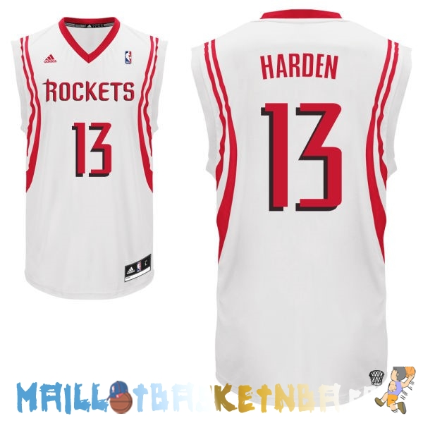 Maillot NBA Houston Rockets NO.13 James Harden Blanc Pas Cher