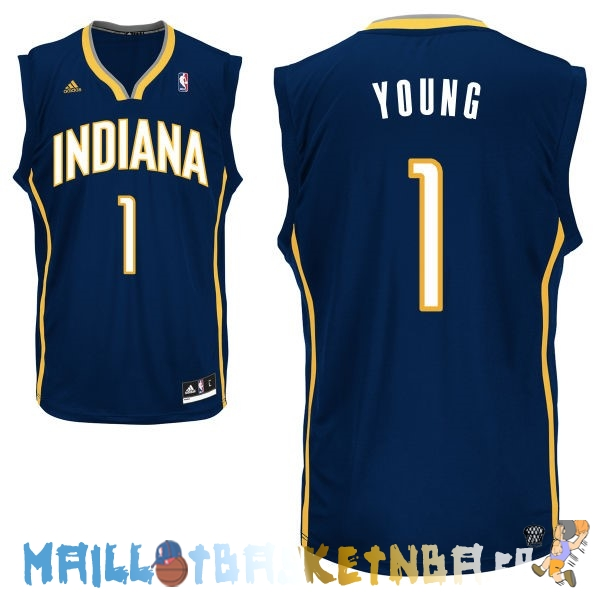 Maillot NBA Indiana Pacers NO.1 Lance Stephenson Noir Pas Cher