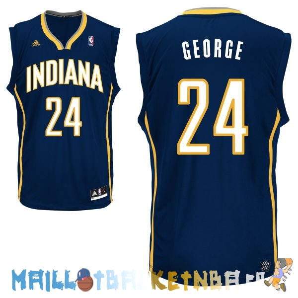 Maillot NBA Indiana Pacers NO.24 Paul George Bleu Pas Cher