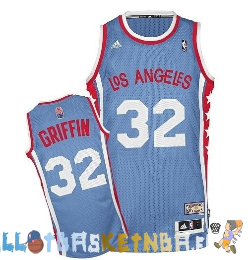 Maillot NBA L.A.Clippers ABA NO.32 Griffin Gris Pas Cher