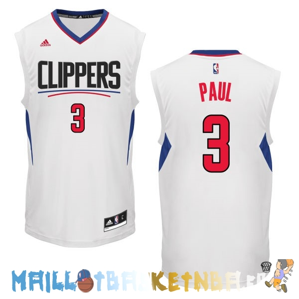Maillot NBA L.A.Clippers NO.3 Chris Paul Blanc Pas Cher