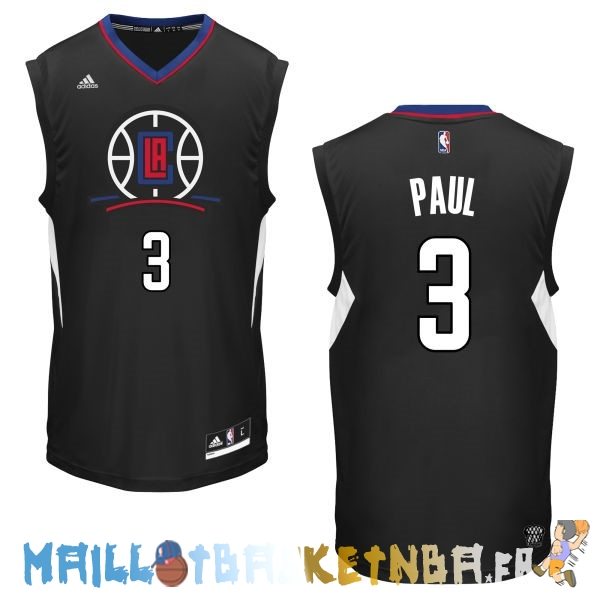 Maillot NBA L.A.Clippers NO.3 Chris Paul Noir Pas Cher