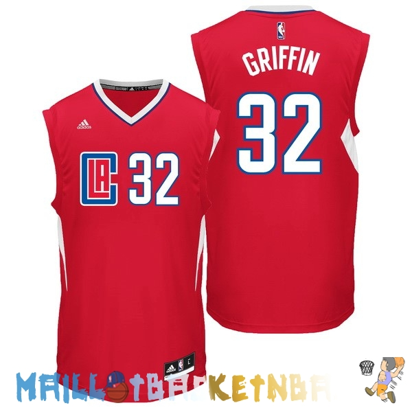 Maillot NBA L.A.Clippers NO.32 Blake Griffin Rouge Pas Cher
