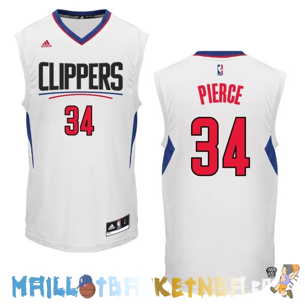 Maillot NBA L.A.Clippers NO.34 Paul Pierce Blanc Pas Cher