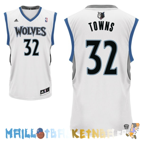 Maillot NBA Minnesota Timberwolves NO.32 Karl Anthony Towns Blanc Pas Cher