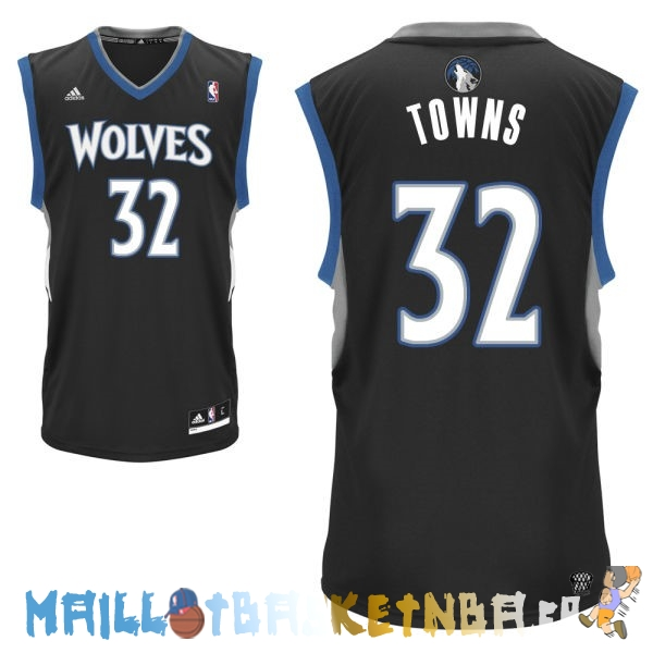 Maillot NBA Minnesota Timberwolves NO.32 Karl Anthony Towns Noir Pas Cher