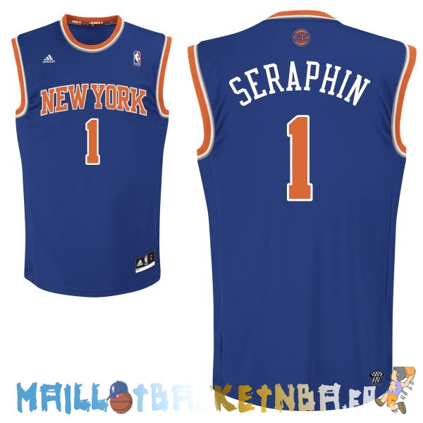 Maillot NBA New York Knicks NO.1 Amar'e Stoudemire Bleu Pas Cher