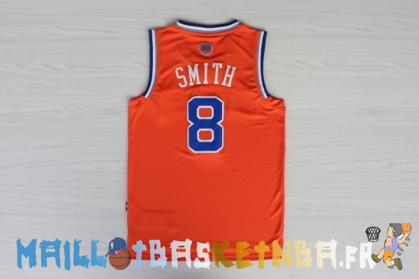 Maillot NBA New York Knicks NO.8 J.R.Smith Orange Bleu Pas Cher