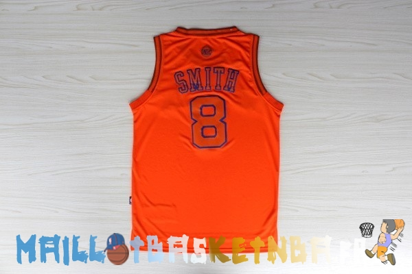 Maillot NBA New York Knicks NO.8 J.R.Smith Orange Pas Cher