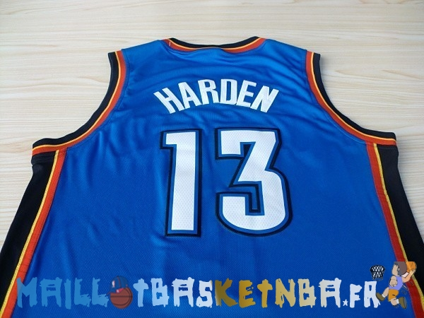 Maillot NBA Oklahoma City Thunder NO.13 James Harden Bleu Pas Cher