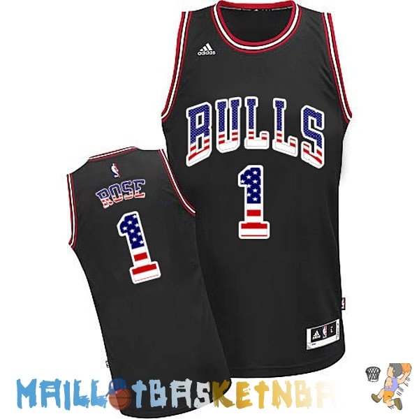 Maillot NBA USA Flag Special Edition NO.1 Rose Noir Pas Cher