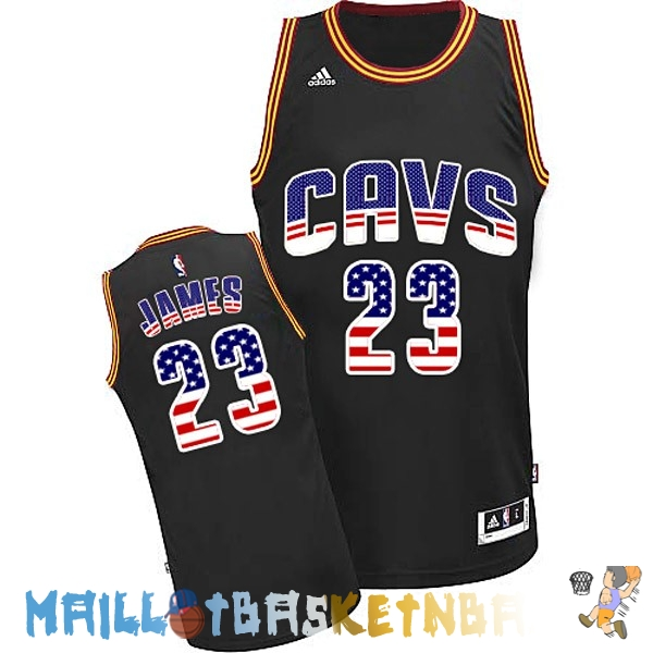 Maillot NBA USA Flag Special Edition NO.23 James Noir Pas Cher